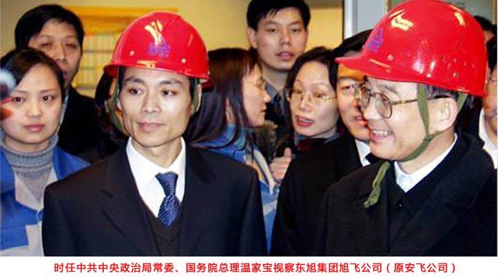 时任国务院总理温家宝视察东旭集团旭飞公司